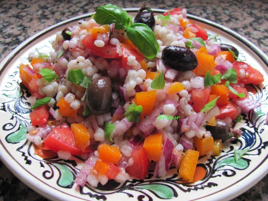 (English) Barley salad