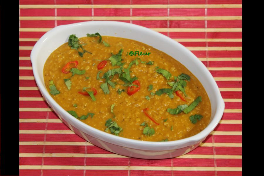 (English) Red lentils curry