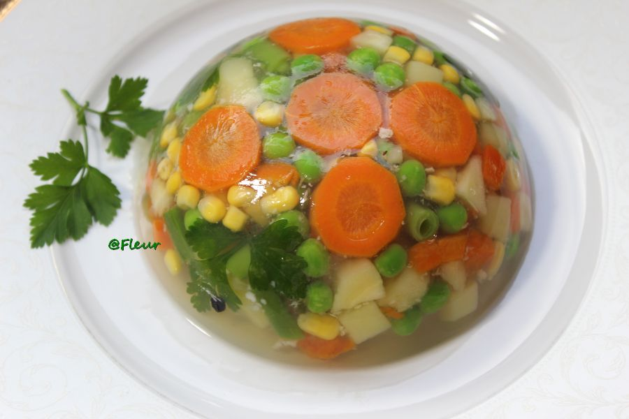 Vegetables aspic
