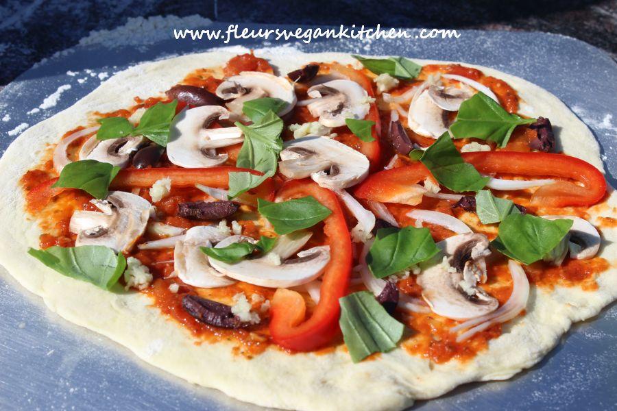 Pizza Fleursvegankitchen