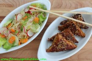 tempeh+salata taietei orez