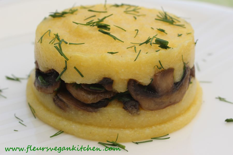 Sauteed mushrooms with polenta