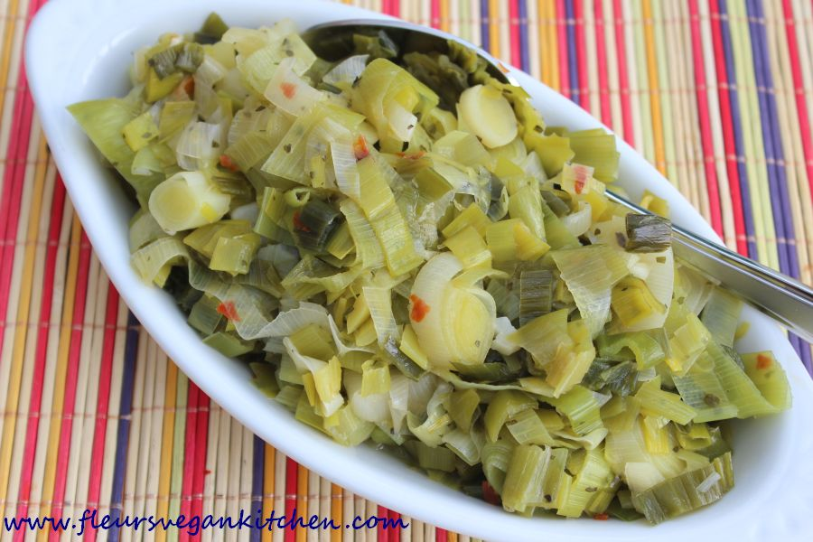 (English) Sauteed leeks