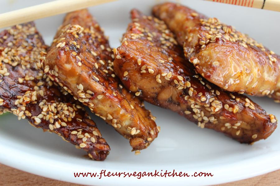 Sticky 5 spices tempeh