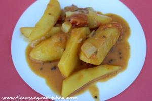 curry cartofi