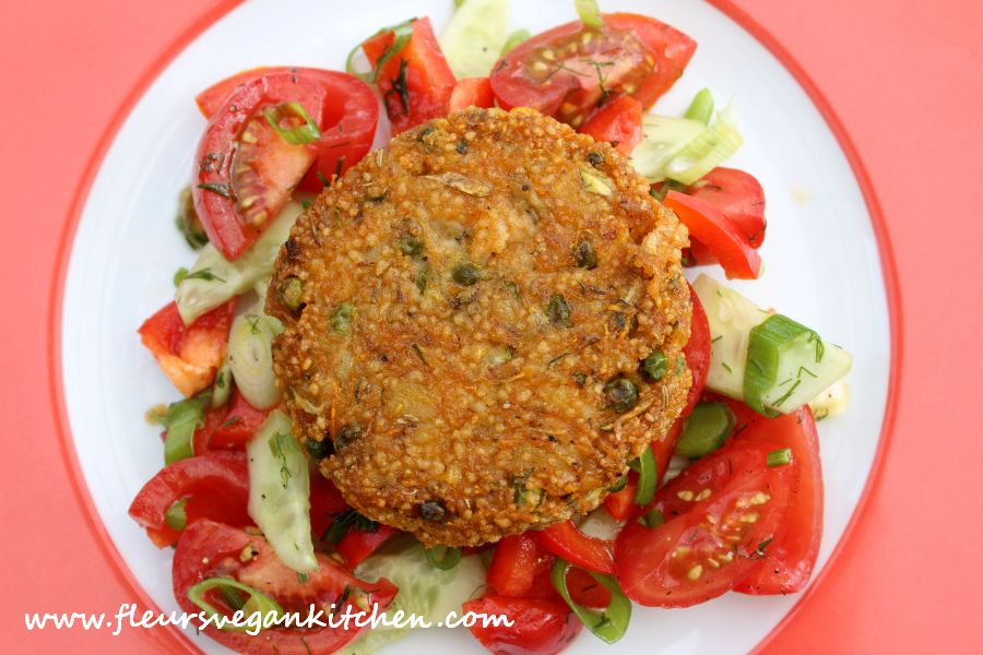 (English) Couscous vegetable burger