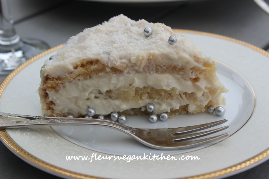 (English) Coconut – lemon cake