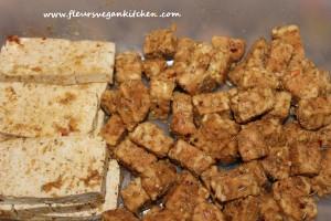 tofu+tempeh marinat