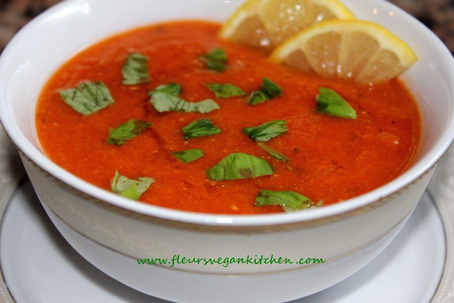 Supa crema de rosii cu linte