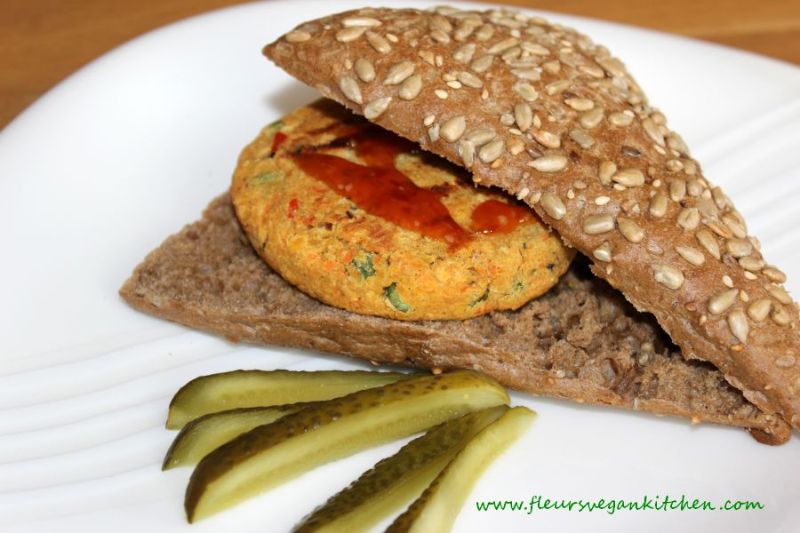 (English) Red lentil burger