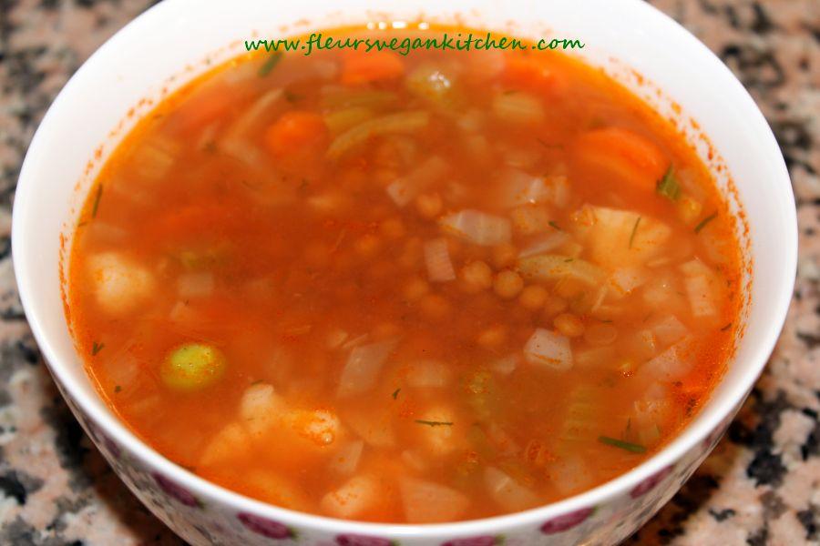 Lentils sauer soup